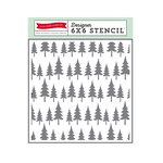 Echo Park - The Story of Christmas Collection - 6 x 6 Stencil - Oh Christmas Tree