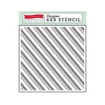 Echo Park - The Story of Our Christmas Collection - 6 x 6 Stencil - Candy Cane Stripe