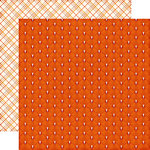 Echo Park - The Story of Our Fall Collection - 12 x 12 Double Sided Paper - Orange Leaf