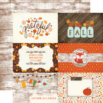 Echo Park - The Story of Fall Collection - 12 x 12 Double Sided Paper - 4 x 6 Journaling Cards