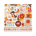 Echo Park - The Story of Fall Collection - 12 x 12 Cardstock Stickers - Elements