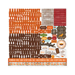 Echo Park - The Story of Our Fall Collection - 12 x 12 Cardstock Stickers - Alphabet