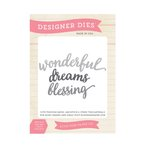 Echo Park - The Story of Our Family Collection - Designer Dies - Blessings Word Set