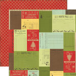 Echo Park - This and That Collection - Christmas - 12 x 12 Double Sided Paper - Christmas Receipts