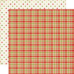 Echo Park - This and That Collection - Christmas - 12 x 12 Double Sided Paper - Plaid and Dots
