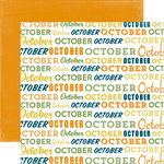 Echo Park - Through The Year Collection - 12 x 12 Double Sided Paper - October