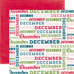 Echo Park - Through The Year Collection - 12 x 12 Double Sided Paper - December
