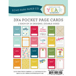 Echo Park - Through The Year Collection - 3 x 4 Pocket Page Cards - Memos