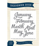 Echo Park - Through The Year Collection - Designer Dies - Jan-June Months