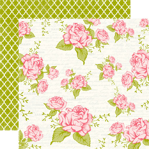 Echo Park - Victoria Garden Collection - 12 x 12 Double Sided Paper - Rose Garden
