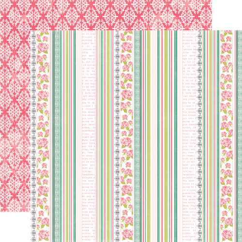 Echo Park - Victoria Garden Collection - 12 x 12 Double Sided Paper - Garden Trellis
