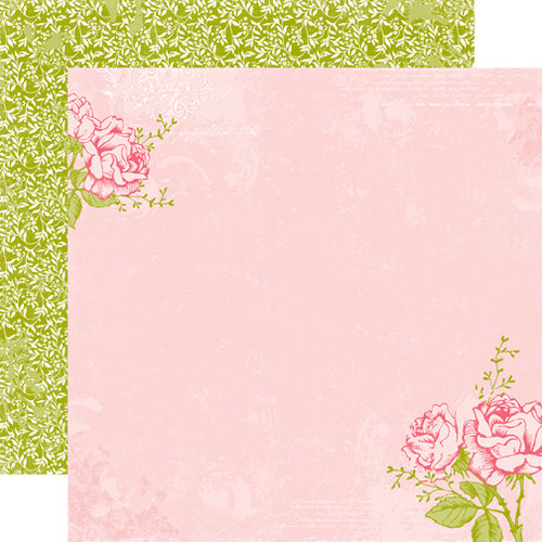 Echo Park - Victoria Garden Collection - 12 x 12 Double Sided Paper - Rose