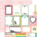 Echo Park - Victoria Garden Collection - 12 x 12 Double Sided Paper - Journaling Cards