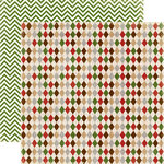 Echo Park - A Very Merry Christmas Collection - 12 x 12 Double Sided Paper - Christmas Argyle