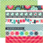 Echo Park - We Are Family Collection - 12 x 12 Double Sided Paper - Border Strips