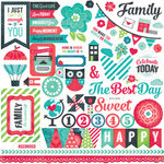 Echo Park - We Are Family Collection - 12 x 12 Cardstock Stickers - Elements