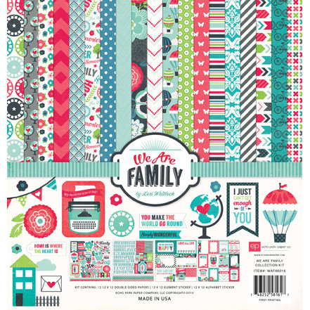 Echo Park - We Are Family Collection - 12 x 12 Collection Kit
