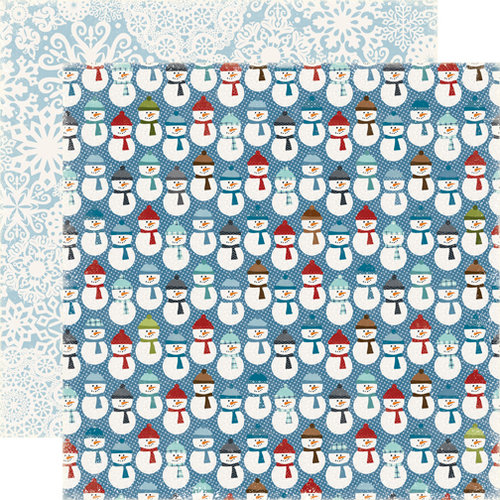 Echo Park - Winter Park Collection - 12 x 12 Double Sided Paper - Snowmen