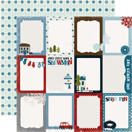 Echo Park - Winter Park Collection - 12 x 12 Double Sided Paper - Journaling Cards