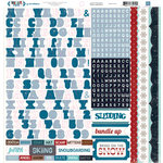 Echo Park - Winter Park Collection - 12 x 12 Cardstock Stickers - Alphabet