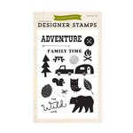 Echo Park - The Wild Life Collection - Clear Acrylic Stamps - Adventure Time
