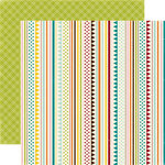 Echo Park - A Walk in The Park Collection - 12 x 12 Double Sided Paper - Playful Stripes, CLEARANCE