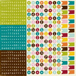 Echo Park - A Walk in The Park Collection - 12 x 12 Cardstock Stickers - Alphabet, CLEARANCE