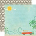 Echo Park - Walking On Sunshine Collection - 12 x 12 Double Sided Paper - Ocean Scenery