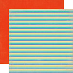 Echo Park - Walking On Sunshine Collection - 12 x 12 Double Sided Paper - Beach Stripe