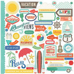 Echo Park - Walking On Sunshine Collection - 12 x 12 Cardstock Stickers - Elements