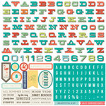 Echo Park - Walking On Sunshine Collection - 12 x 12 Cardstock Stickers - Alphabet