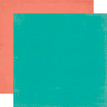 Echo Park - Walking On Sunshine Collection - 12 x 12 Double Sided Paper - Teal