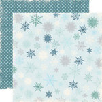Echo Park - Wintertime Collection - 12 x 12 Double Sided Paper - Flurry