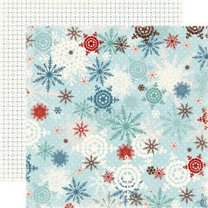 Echo Park - Wintertime Collection - 12 x 12 Double Sided Paper - Snow, CLEARANCE
