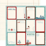 Echo Park - Wintertime Collection - 12 x 12 Double Sided Paper - Journaling Cards, CLEARANCE