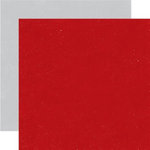 Echo Park - Wintertime Collection - 12 x 12 Double Sided Paper - Holly Berry Red and Snowflake Grey