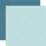 Echo Park - Wintertime Collection - 12 x 12 Double Sided Paper - Blizzard Blue and Icicle Blue