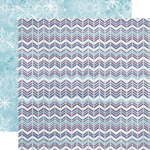 Echo Park - Winter Wishes Collection - 12 x 12 Double Sided Paper - Shimmering Chevron
