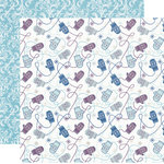 Echo Park - Winter Wishes Collection - 12 x 12 Double Sided Paper - Warm Mittens