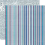 Echo Park - Winter Wishes Collection - 12 x 12 Double Sided Paper - Chilly Stripe