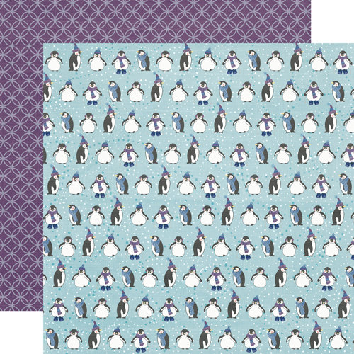 Echo Park - Winter Wishes Collection - 12 x 12 Double Sided Paper - Playful Penguins