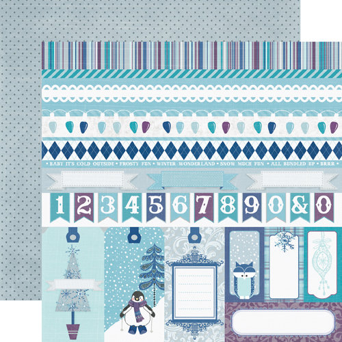 Echo Park - Winter Wishes Collection - 12 x 12 Double Sided Paper - Border Strips