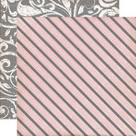 Echo Park - Yours Truly Collection - 12 x 12 Double Sided Paper - Awning Stripe