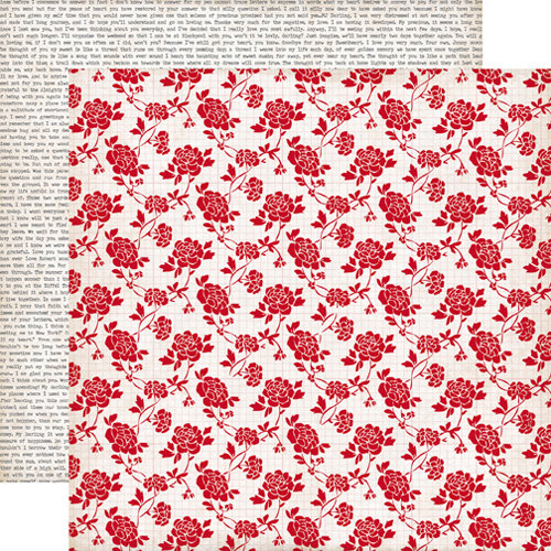 Echo Park - Yours Truly Collection - 12 x 12 Double Sided Paper - Rose Blossom