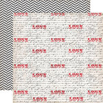 Echo Park - Yours Truly Collection - 12 x 12 Double Sided Paper - Love Notes