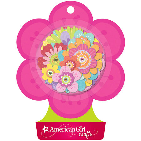 EK Success - American Girl Crafts - Stacked Stickers with Gem Accents - Fancy Flowers