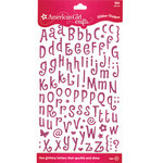 EK Success - American Girl Crafts - Glitter Stickers - Tiny Letters - Pink