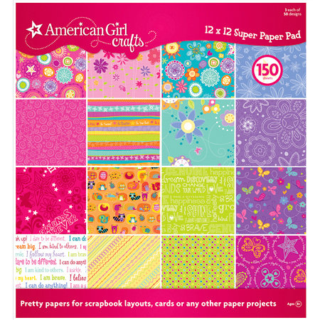 EK Success - American Girl Crafts - 12 x 12 Super Paper Pad