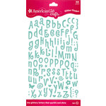 EK Success - American Girl Crafts - Glitter Stickers - Tiny Letter - Ocean