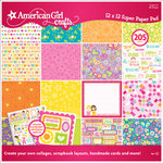 EK Success - American Girl Crafts - 12 x 12 Paper Pad - Spring, CLEARANCE